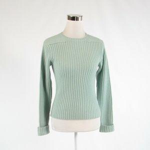 Sea foam green L.L. BEAN crewneck sweater XS